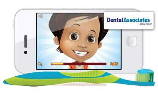 Our Pediatric Dentist helps with our Toothbrush Timer app.