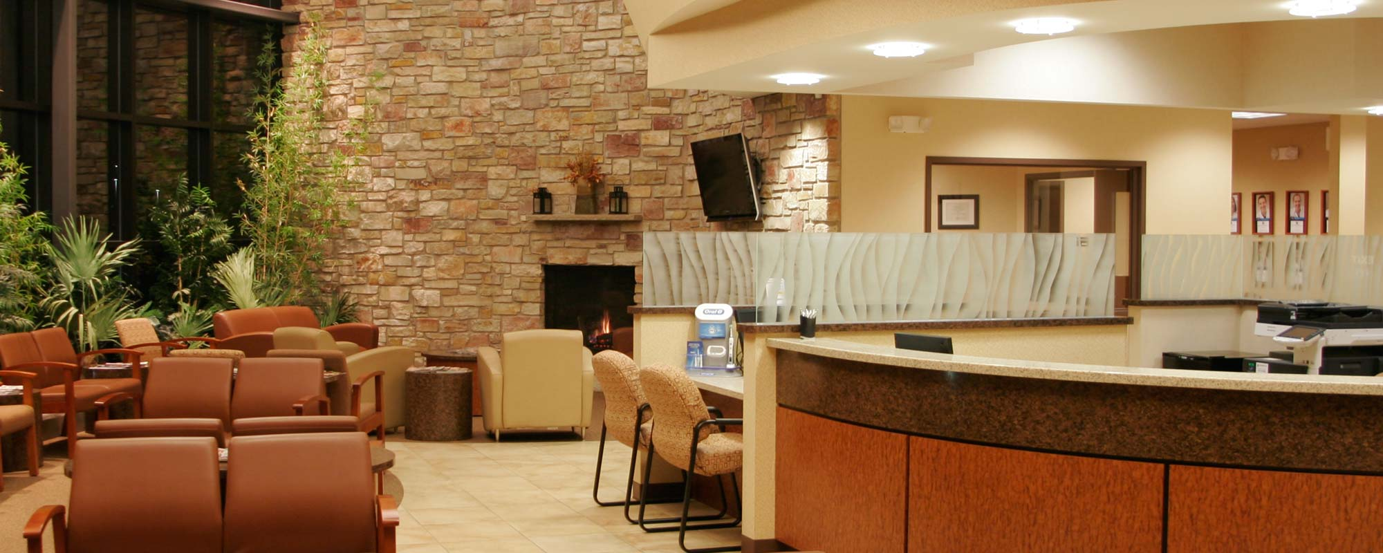 The lobby of Dental Associates Appleton North clinic.