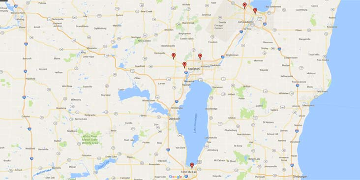 Dental Associates' north Wisconsin locations.