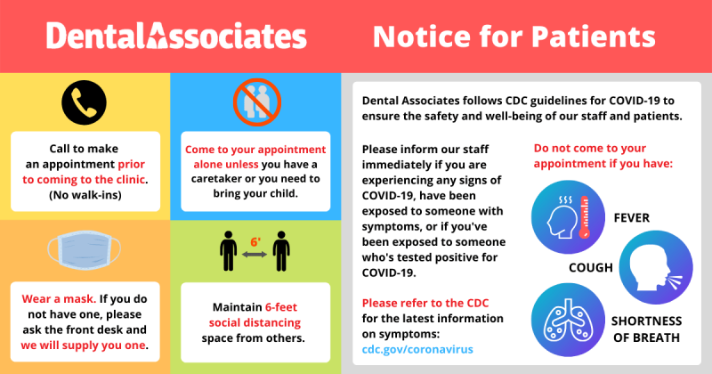Dental Associates COVID-19 Guidelines